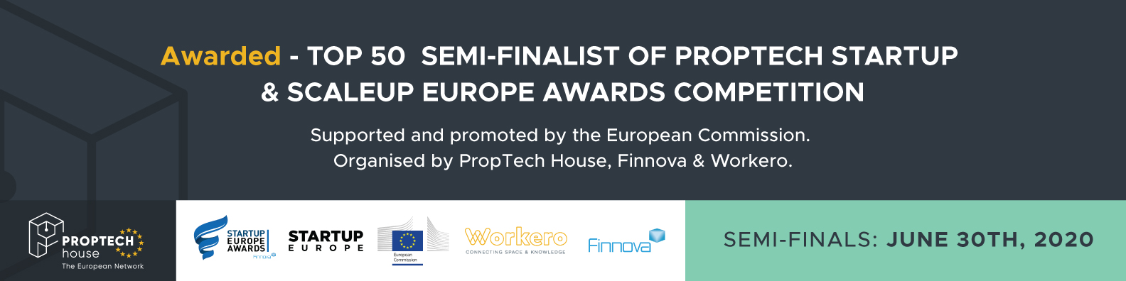 Semi-finals of the Proptech Start-up Europe Awards 2020